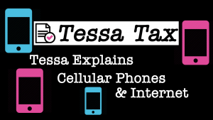 Cell Phones and Internet Tax Deduction Video | Tessa Tax