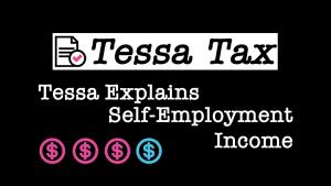 Self Employment Income Video Explaination | Tessa Tax